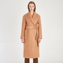 Minimal Design Soft Wool Knit Gown Coat_Doe-Beige [미니멀 디자인 소프트 울 니트 가운 코트_Doe-Beige]